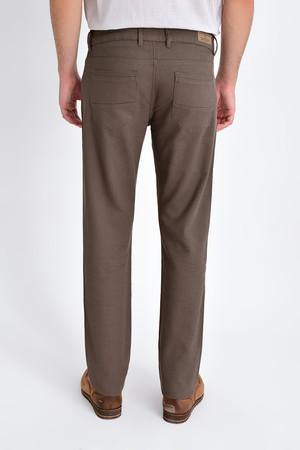 Desenli Slim Fit Vizon Pantolon - Thumbnail