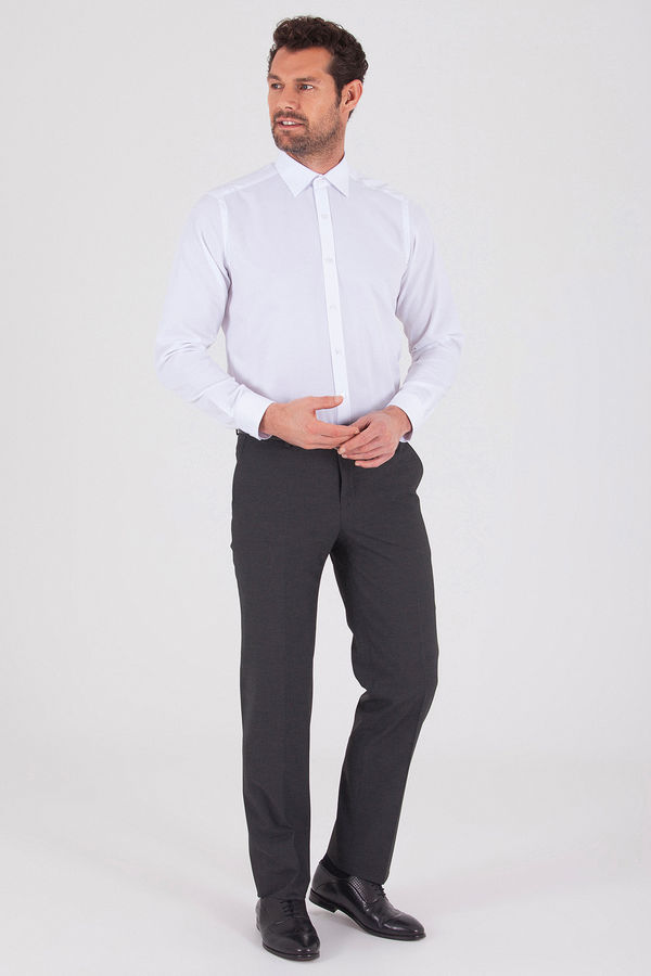 Antrasit Slim Fit Kumaş Pantolon