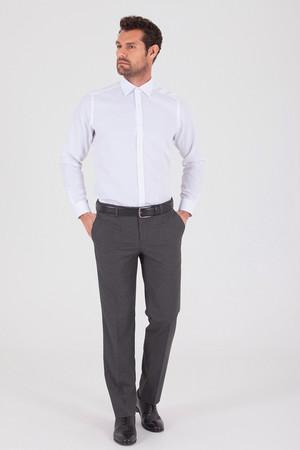 Hatem Saykı - Gri Slim Fit Yünlü Kumaş Pantolon (1)