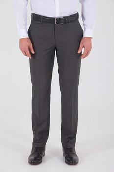 Gri Slim Fit Yünlü Kumaş Pantolon - Thumbnail