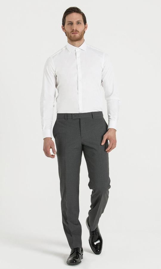 Hatem Saykı - Gri Klasik Kumaş Pantolon (1)