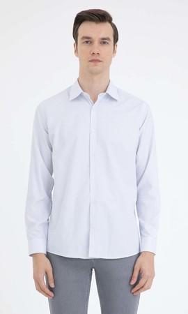 Hatemoğlu - Baskılı Regular Gri Gömlek