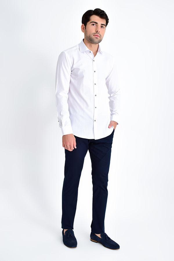 HATEMOĞLU - Gri Baskılı Slim Fit Gömlek (1)