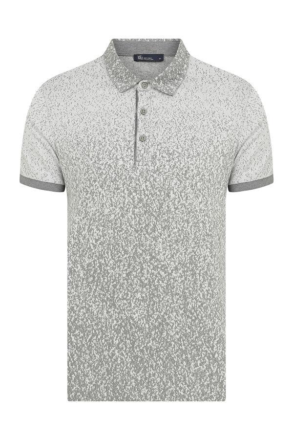 HTML - Gri Desenli Polo Yaka Tişört