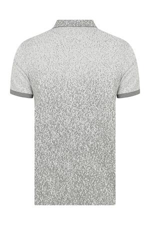 HTML - Gri Desenli Polo Yaka Tişört (1)