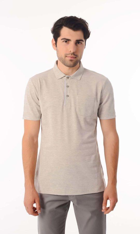 HATEMOĞLU - Gri - Desenli Regular T-shirt