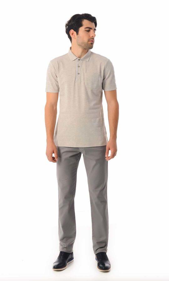 HATEMOĞLU - Gri - Desenli Regular T-shirt (1)