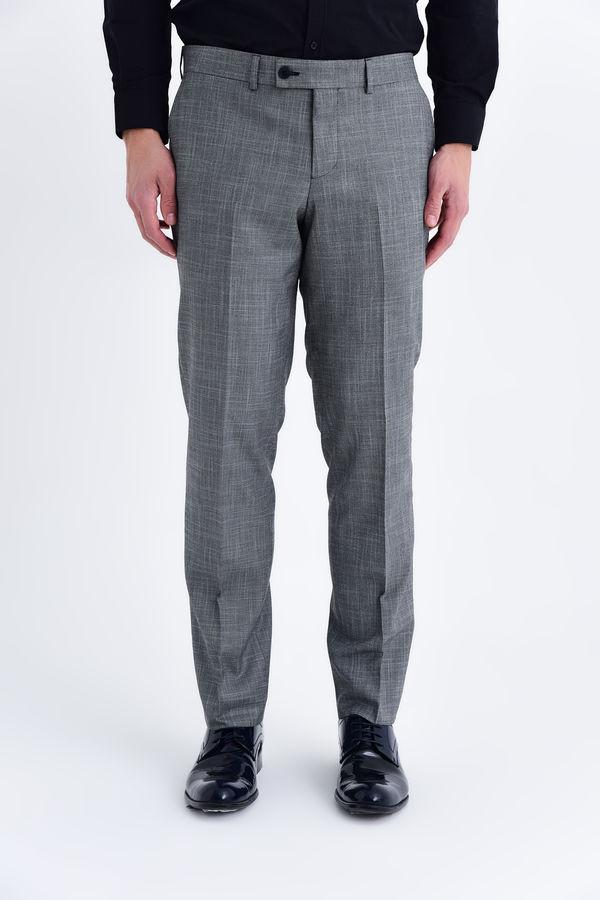 HATEMOĞLU - Gri Desenli Slim Fit Pantolon