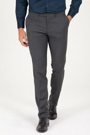 Hatem Saykı - Antrasit Slim Fit Kumaş Pantolon