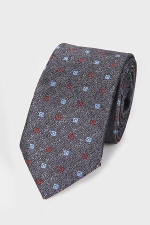 Hatemoğlu - Gri Desenli Kravat