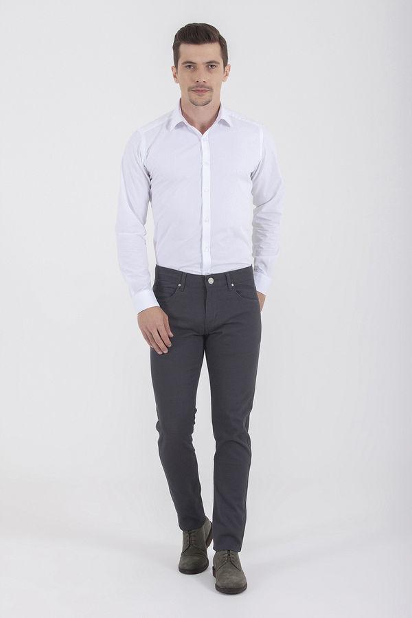 Hatem Saykı - Gri Desenli Slim Fit Pantolon (1)