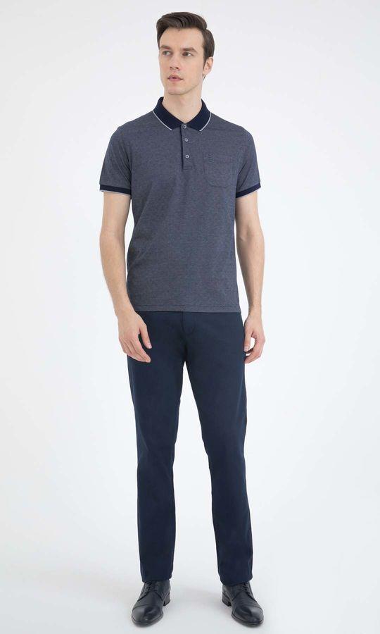 HATEMOĞLU - Gri-Lacivert - Desenli Regular T-shirt (1)