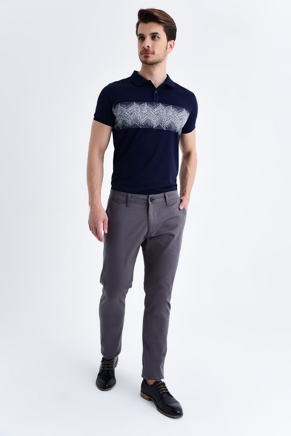 HATEM SAYKI - Gri Petek Slim Fit Pantolon (1)