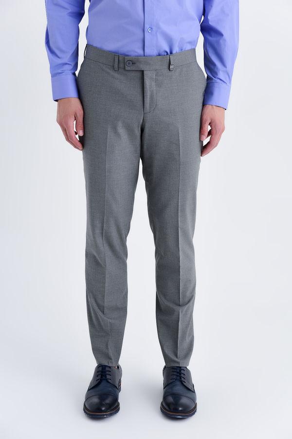 HATEMOĞLU - Gri Pitikareli Pitikare Slim Fit Pantolon