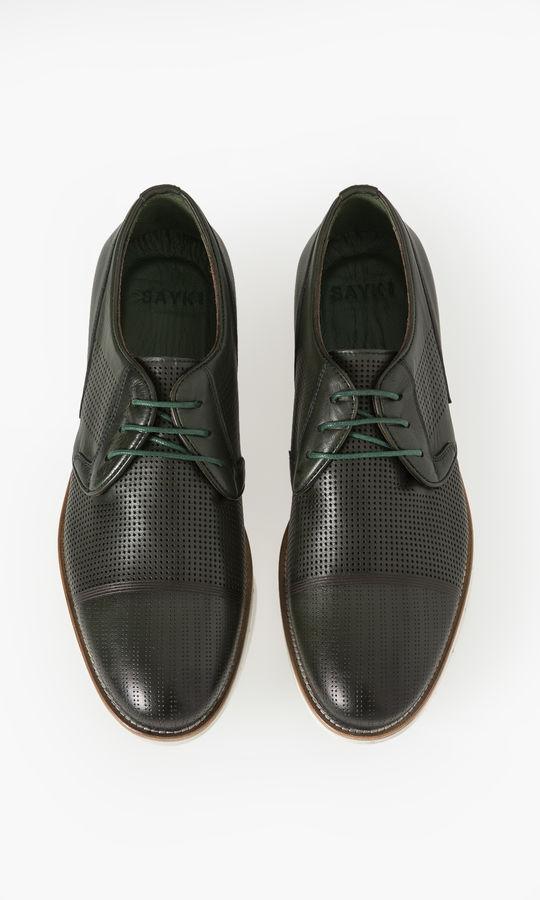 Hatem Saykı - Hakiki Deri Haki Günlük Ayakkabı (1)