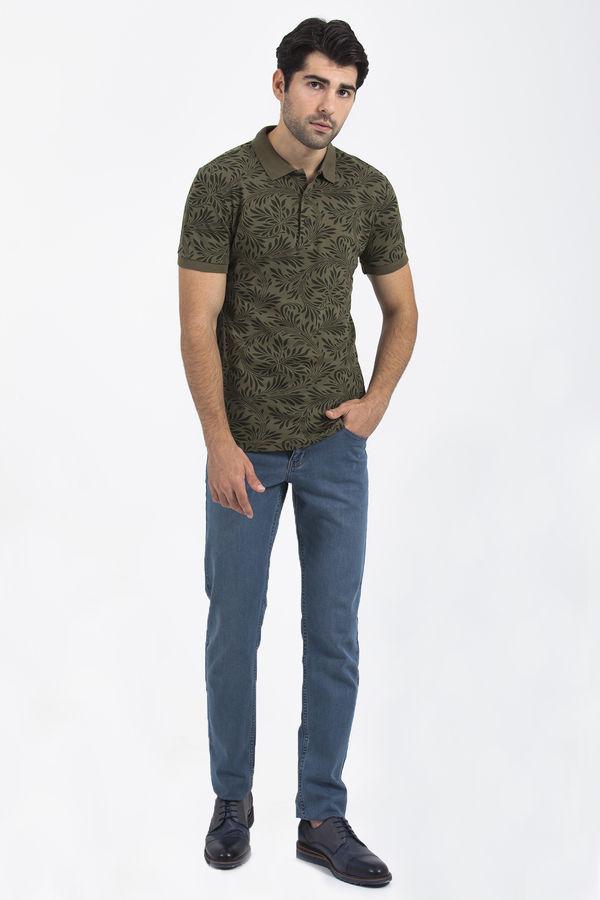 HTML - Haki Baskılı Polo Yaka T-shirt (1)
