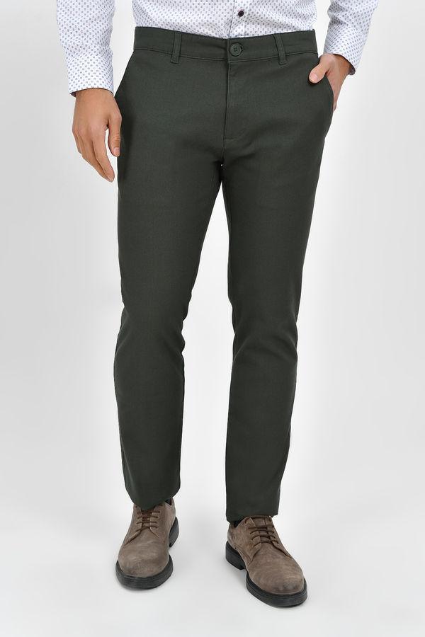 Hatemoğlu - Haki Desenli Regular Pantolon