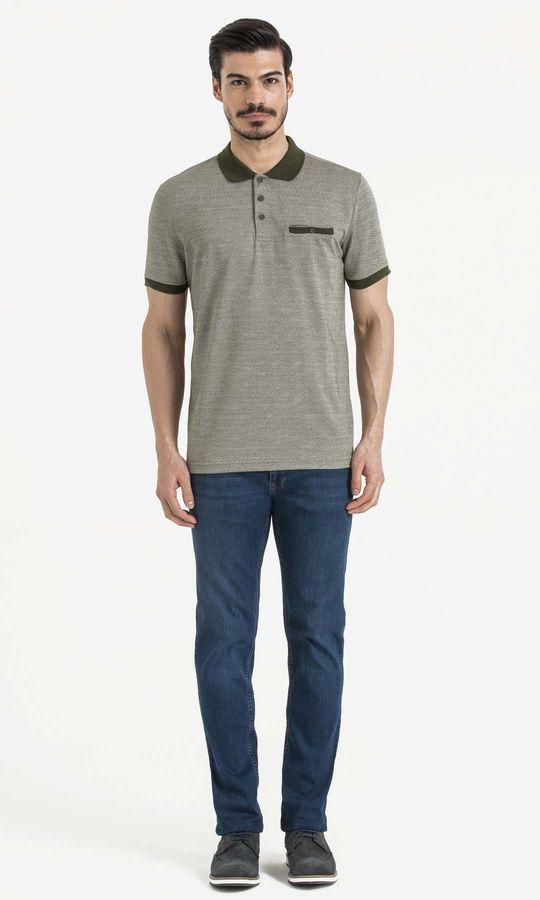HATEMOĞLU - Haki - Ekru - Desenli Regular T-shirt (1)