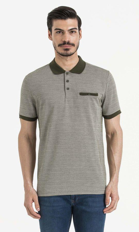 HATEMOĞLU - Haki - Ekru - Desenli Regular T-shirt