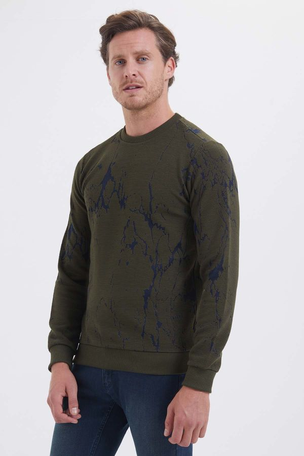 HTML - Haki Slim Fit Sweatshirt