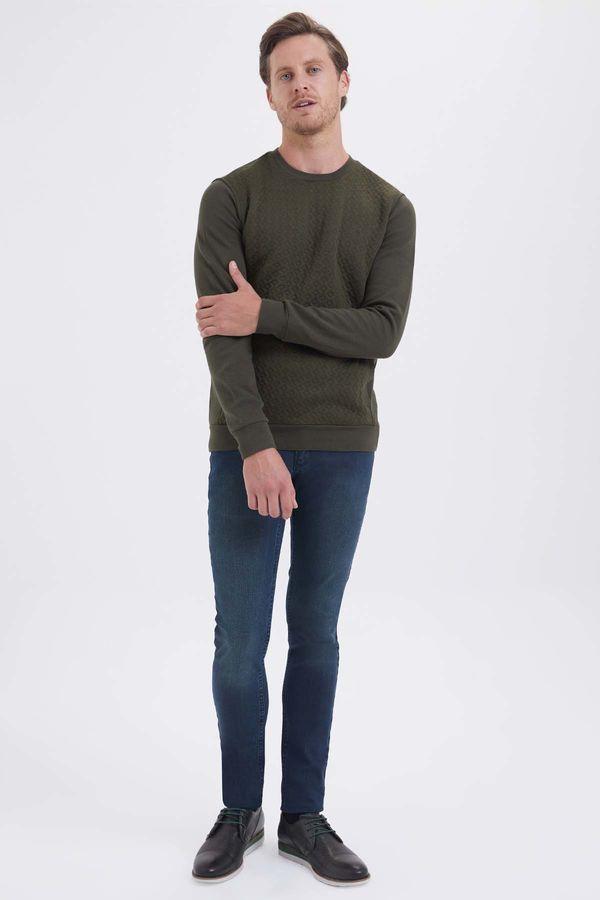 HTML - Haki Slim Fit Sweatshirt (1)