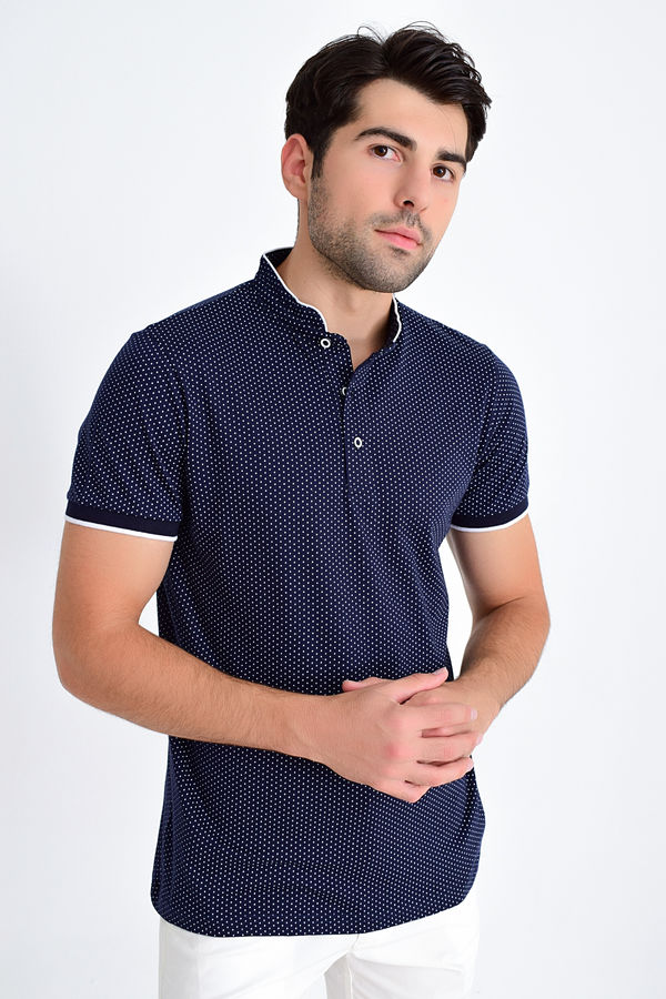 HTML - Hakim Yaka Lacivert Regular T-shirt
