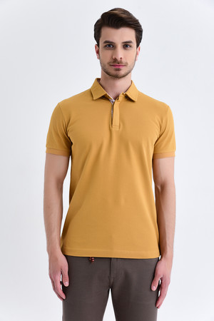 HTML - Hardal Baskılı Regular T-shirt