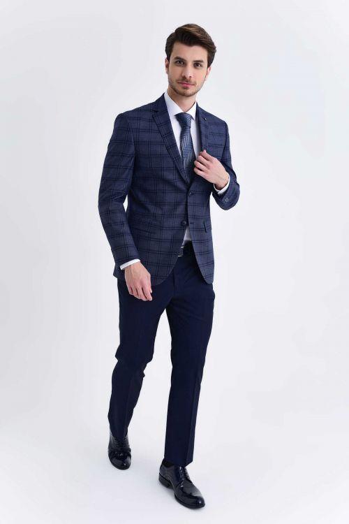 HATEMOĞLU - Lacivert Slim Fit Takım Elbise