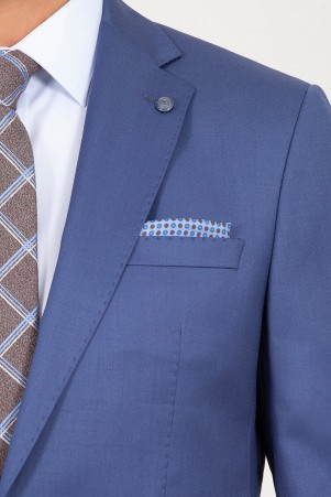 Mavi Slim Fit Takım Elbise - Thumbnail