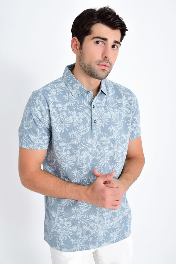 HATEM SAYKI - Mint Desenli Regular T-shirt