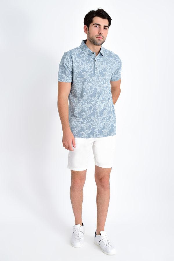 HATEM SAYKI - Mint Desenli Regular T-shirt (1)