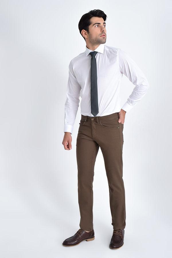 HATEMOĞLU - Vizon Desenli Regular Pantolon (1)