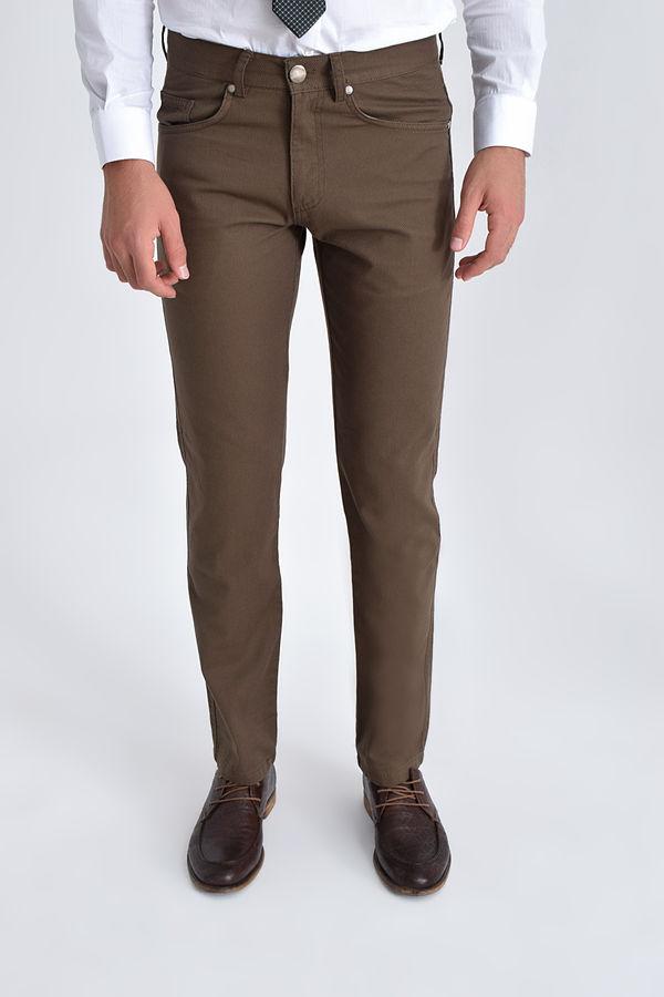 HATEMOĞLU - Vizon Desenli Regular Pantolon