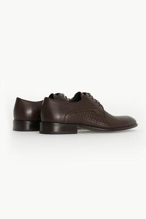 Hakiki Deri Kahverengi Klasik Ayakkabı - Thumbnail