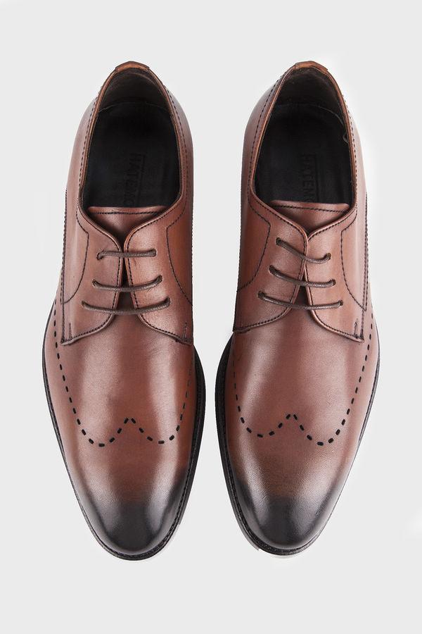 Hatemoğlu - Hakiki Deri Kahverengi Klasik Ayakkabı (1)