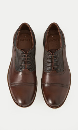 Hakiki Deri Kahverengi Günlük Ayakkabı - Thumbnail