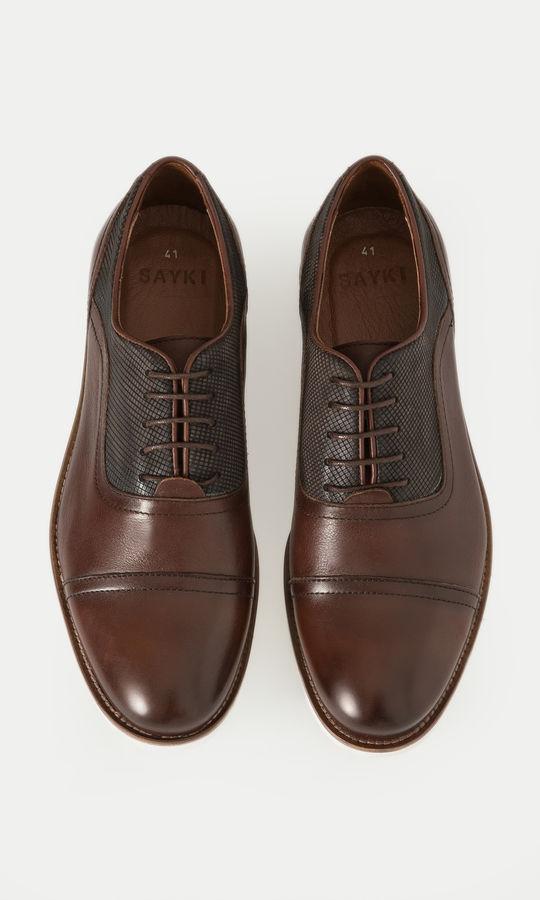Hakiki Deri Kahverengi Günlük Ayakkabı