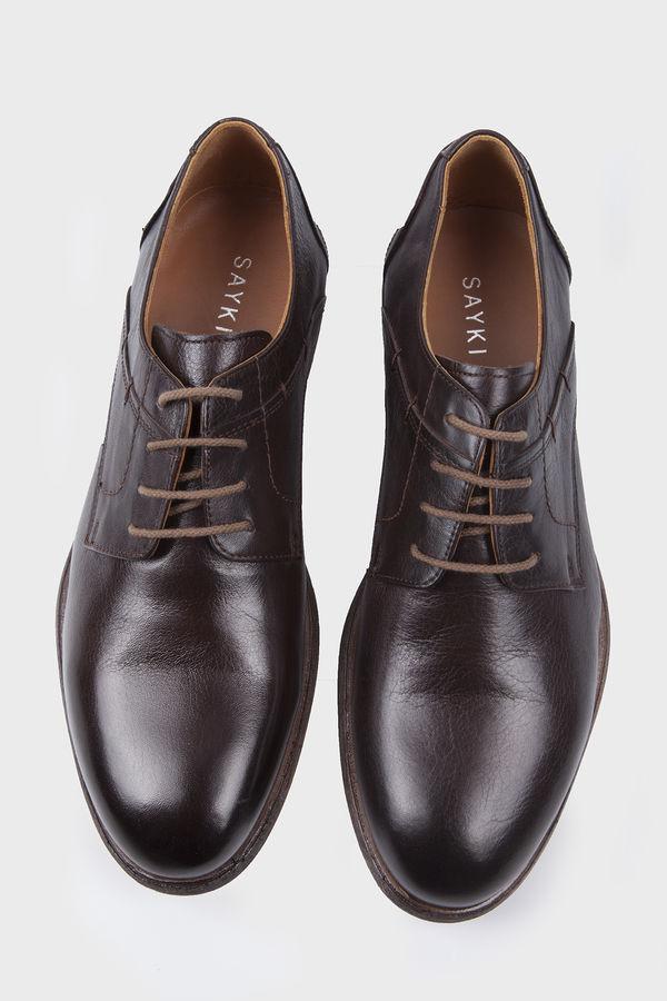 Hatem Saykı - Hakiki Deri Kahverengi Klasik Ayakkabı (1)