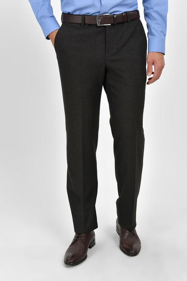 HATEMOĞLU - Kahverengi Desenli Dinamik Pantolon