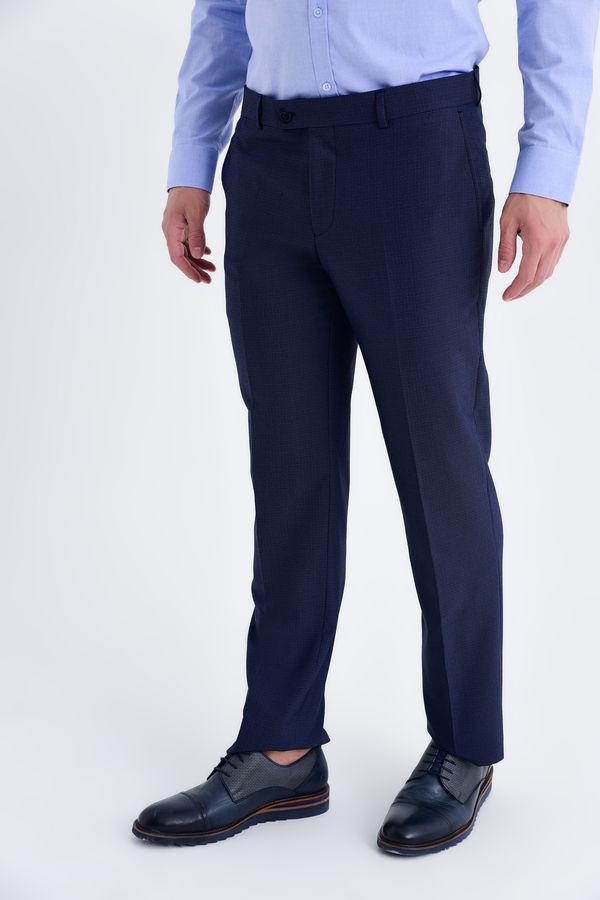 Kahverengi Desenli Slim Fit Pantolon