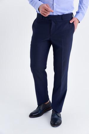 Kahverengi Desenli Slim Fit Pantolon - Thumbnail