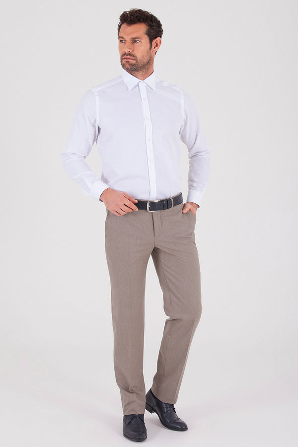 Hatemoğlu - Kahverengi Desenli Slim Fit Pantolon (1)