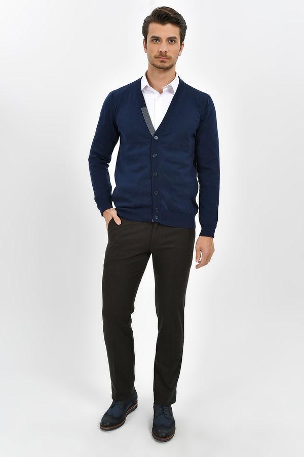 Hatemoğlu - Kahverengi Desenli Regular Pantolon (1)