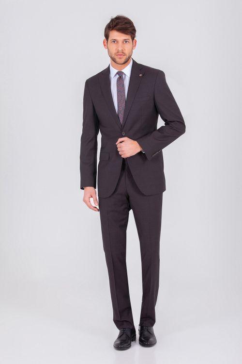 Hatem Saykı - Kahverengi Slim Fit Takım Elbise (1)