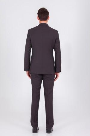 Kahverengi Slim Fit Takım Elbise - Thumbnail