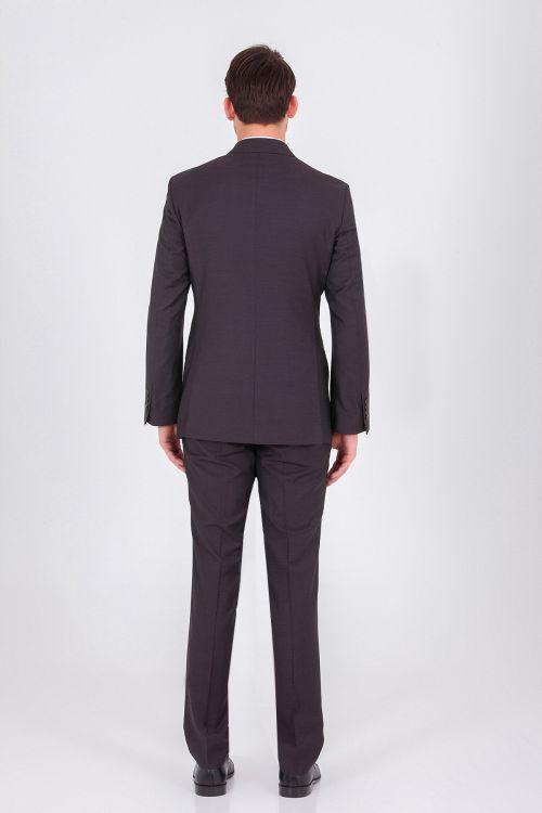 Kahverengi Slim Fit Takım Elbise