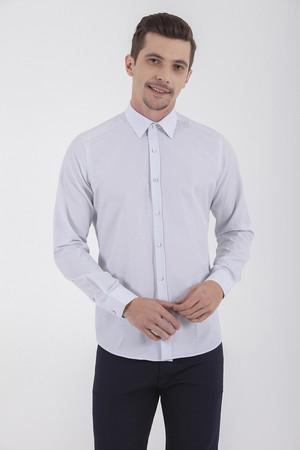 Hatemoğlu - Lacivert Kareli Slim Fit Gömlek (1)