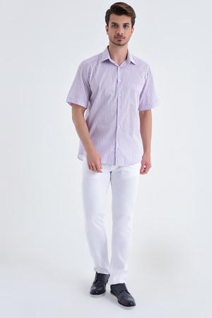 Hatemoğlu - Kareli Kısa Kol Pembe Gömlek (1)