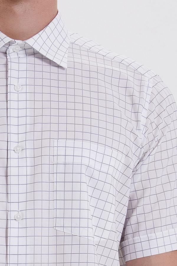 Kareli Klasik Beyaz Gömlek