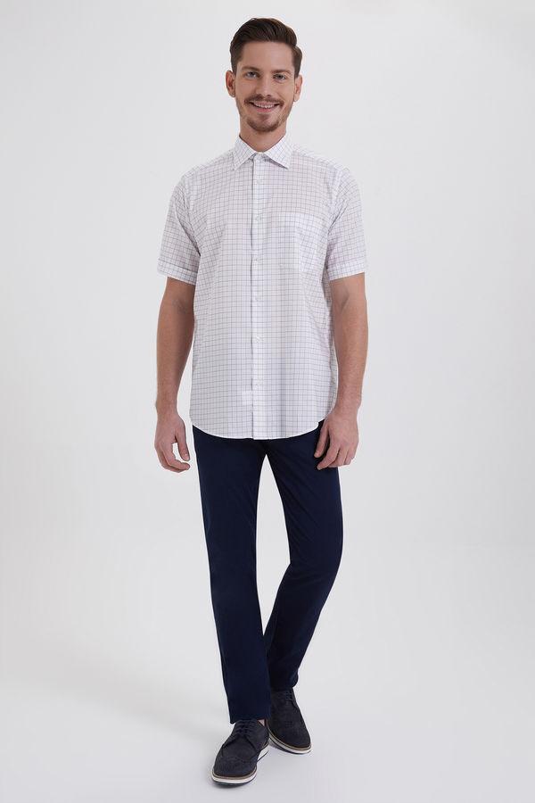 Hatemoğlu - Kareli Klasik Beyaz Gömlek (1)